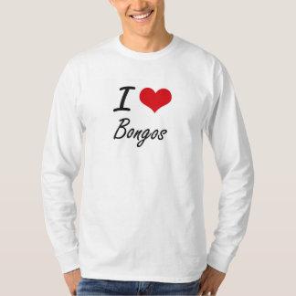 Amo diseño artístico de los bongos playeras