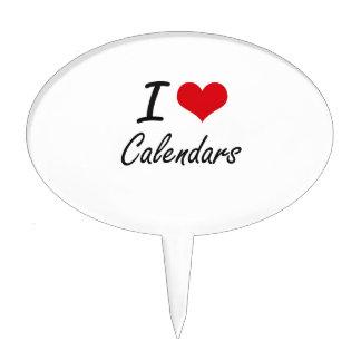 Amo diseño artístico de los calendarios decoraciones de tartas