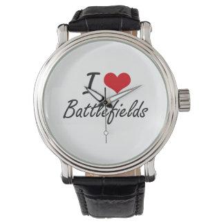 Amo diseño artístico de los campos de batalla relojes