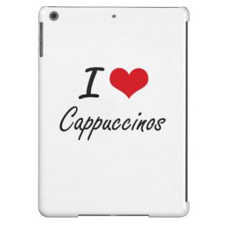 Amo diseño artístico de los Cappuccinos Funda Para iPad Air