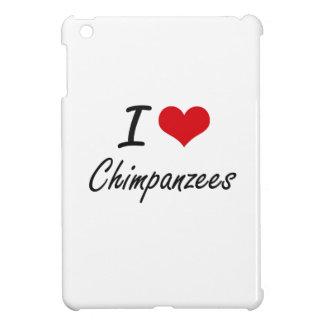Amo diseño artístico de los chimpancés