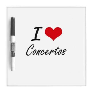 Amo diseño artístico de los conciertos pizarras