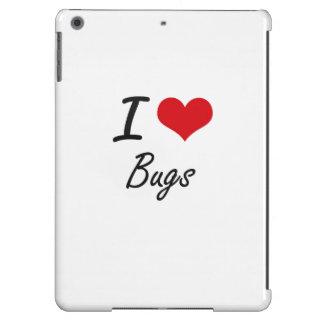 Amo diseño artístico de los insectos funda para iPad air