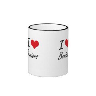 Amo diseño artístico de los juanetes taza a dos colores