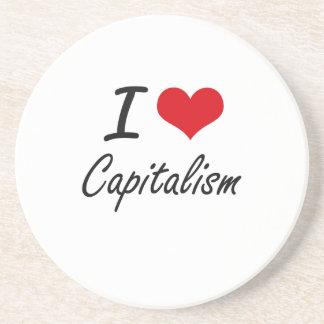 Amo diseño artístico del capitalismo posavasos diseño