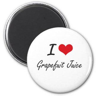 Amo diseño artístico del jugo de Grapefuit Imán Redondo 5 Cm
