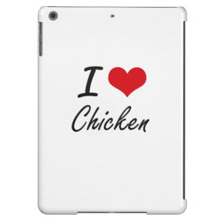 Amo diseño artístico del pollo funda para iPad air