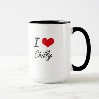 Amo diseño artístico frío taza