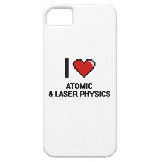 Amo diseño atómico y del laser de la física de iPhone 5 carcasa