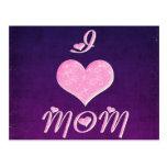 Amo diseño bonito del corazón de la mamá postales