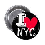 Amo diseño clásico del tatuaje de New York City Pin