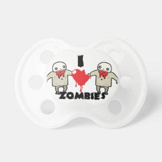 amo diseño de carácter de los zombis con el corazó chupetes para bebés
