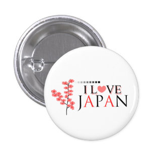"""""""Amo diseño de Japón"""" para los amantes de Japón Pin Redondo 2,5 Cm"""