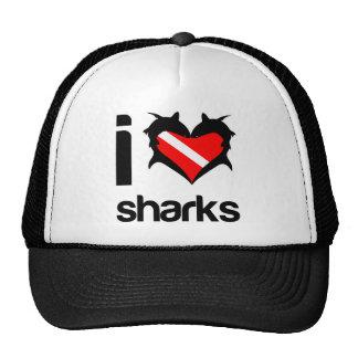 Amo diseño de la camiseta de los tiburones