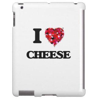 Amo diseño de la comida del queso funda para iPad