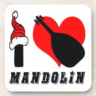 Amo diseño de la mandolina posavasos de bebidas