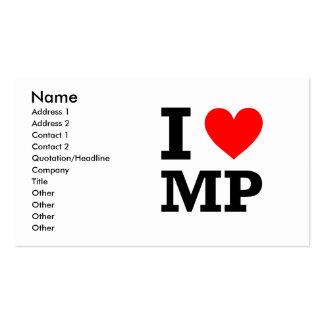 Amo diseño de la P.M. Tarjetas Personales