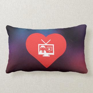 Amo diseño de las difusiones de TV Almohada