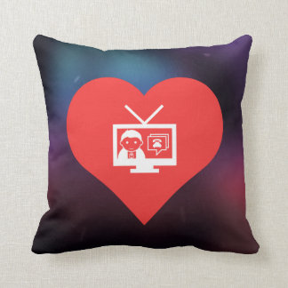 Amo diseño de las difusiones de TV Cojín
