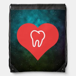 Amo diseño de los dientes mochila