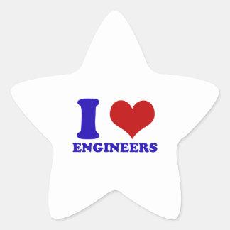 Amo diseño de los ingenieros calcomanías forma de estrellas personalizadas