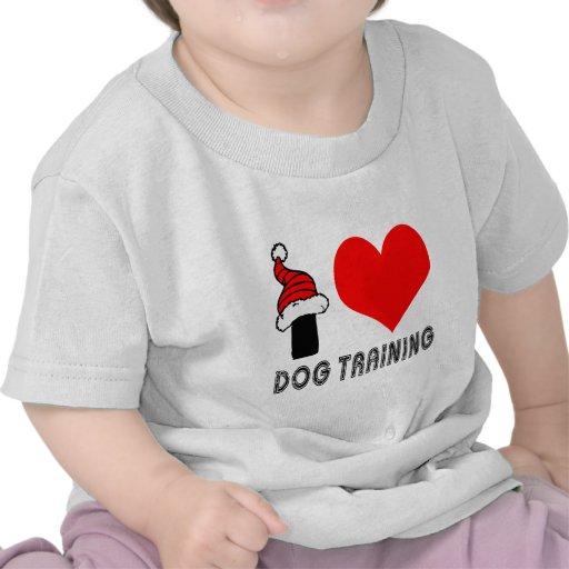 Amo diseño del entrenamiento del perro camiseta