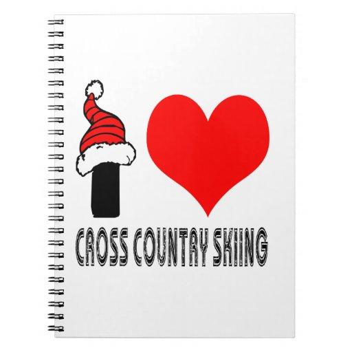 Amo diseño del esquí del campo a través cuadernos