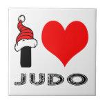 Amo diseño del judo azulejo ceramica