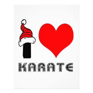 Amo diseño del karate membretes personalizados