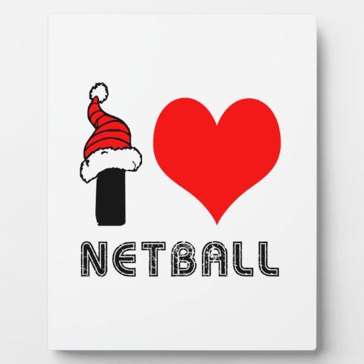 Amo diseño del Netball Placas De Plastico