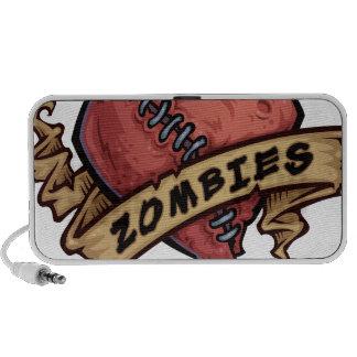 amo diseño del ojo y del corazón de los zombis iPhone altavoz
