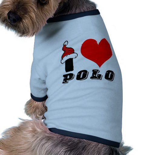 Amo diseño del polo camiseta con mangas para perro