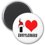 Amo diseño del Shuffleboard Iman Para Frigorífico