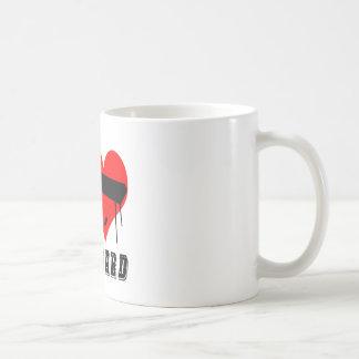 Amo diseño del teclado taza de café
