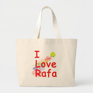 Amo diseño del tenis de Rafa Bolsa Tela Grande