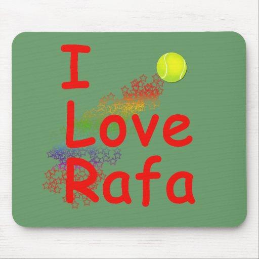 Amo diseño del tenis de Rafa Mousepad