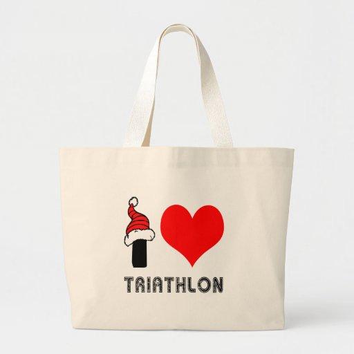Amo diseño del Triathlon Bolsas