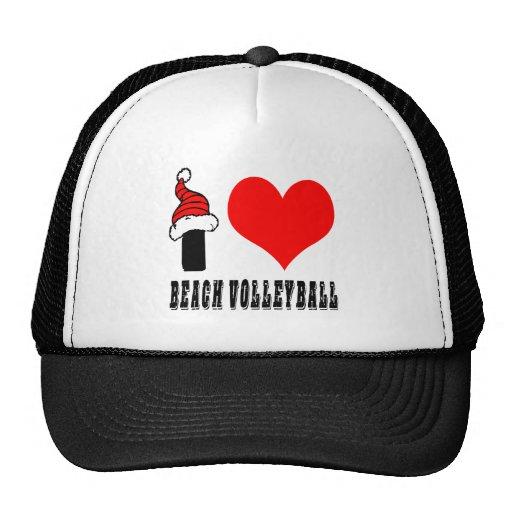 Amo diseño del voleibol de playa gorros bordados