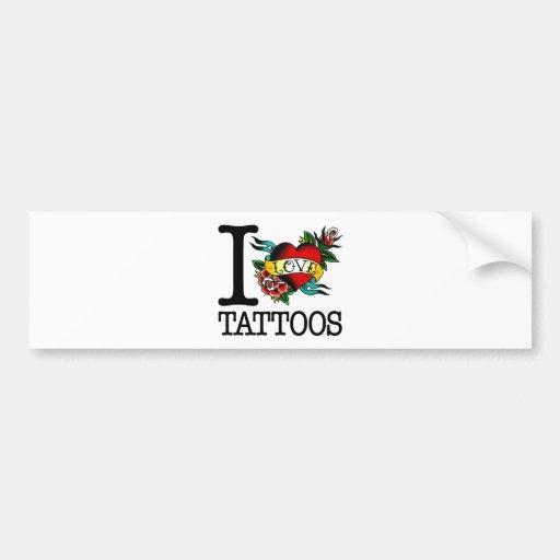amo diseño entintado tatuaje del tat de los tatuaj pegatina de parachoque