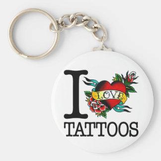 amo diseño entintado tatuaje del tat de los tatuaj llavero redondo tipo pin