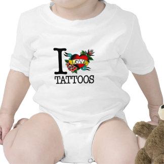 amo diseño entintado tatuaje del tat de los tatuaj camisetas
