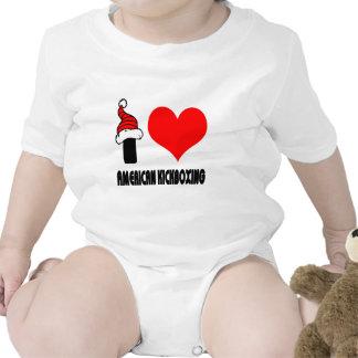 Amo diseño kickboxing americano traje de bebé