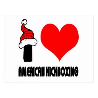 Amo diseño kickboxing americano postal