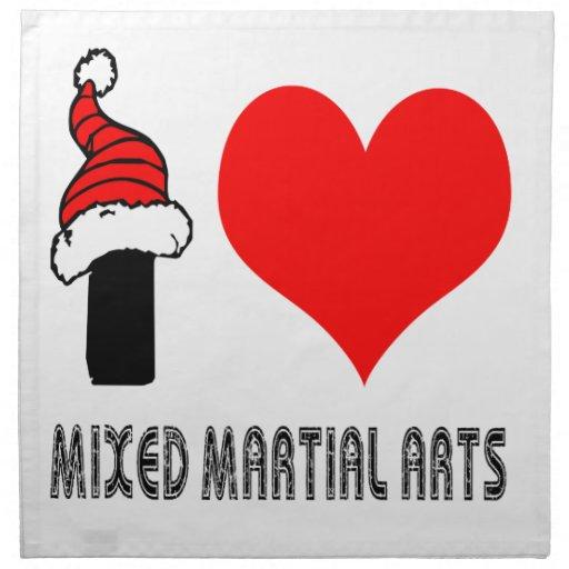 Amo diseño mezclado de los artes marciales servilleta de papel