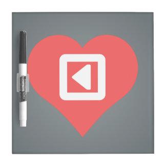 Amo diseño teledirigido de los botones pizarras blancas