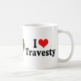Amo disfraz tazas de café