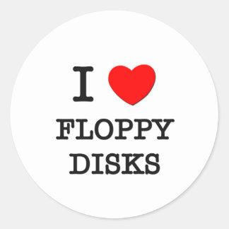 Amo diskettes pegatina