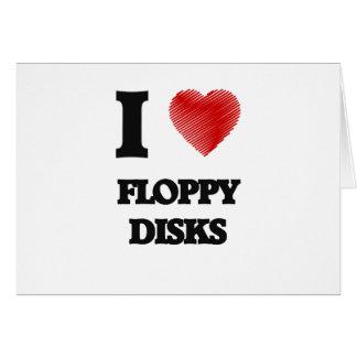 Amo diskettes tarjeta de felicitación