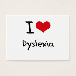 Amo dislexia tarjetas de visita grandes