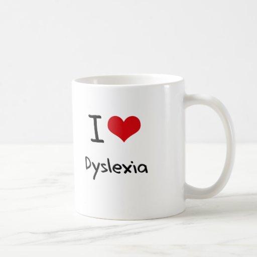 Amo dislexia taza básica blanca